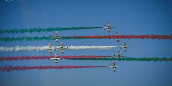 Italian Air Force Frecce Tricolori Display Team To Perform Flyover All Over Italy To Boost Country's Morale
