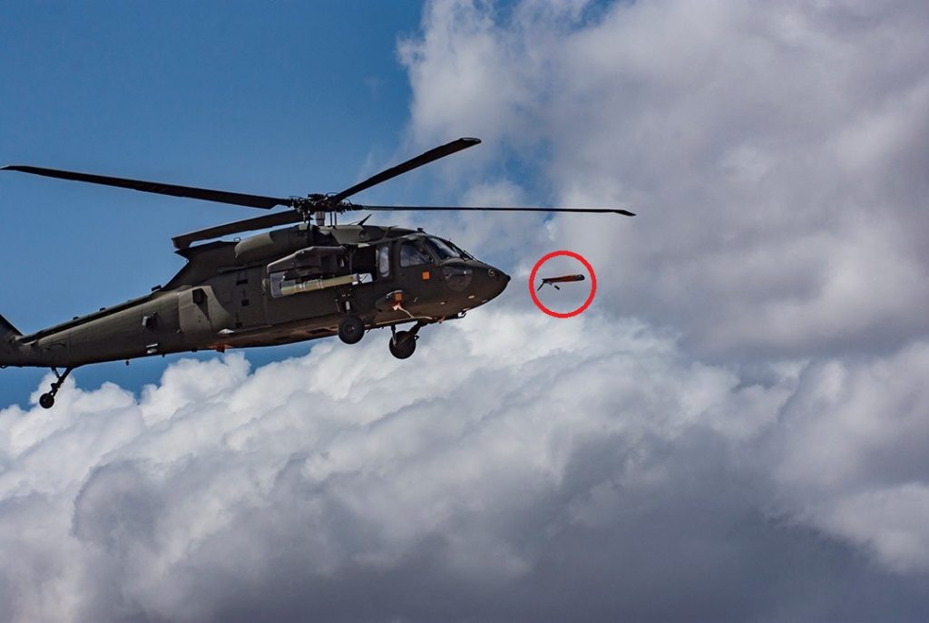 U.S. Army Successfully Launches A Drone From A UH-60 Blackhawk Helicopter