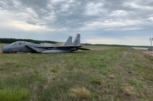 U.S. Air Force F-15C Eagle Skidded Off Runway During Emergency Landing At Andrews Air Force Base