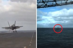 Watch: F-35 Nearly Crashed Into The Ocean During A Carrier's Limited Power Test Launch