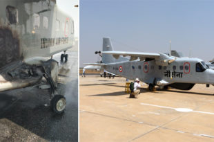 Indian Air Force Dornier 228-201 Aircraft Aborts Take-off After Tyre Deflation