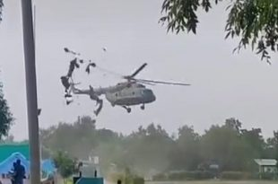 Shocking Footage Shows Indian Air Force Mi-8 Helicopter Dangerous Landing