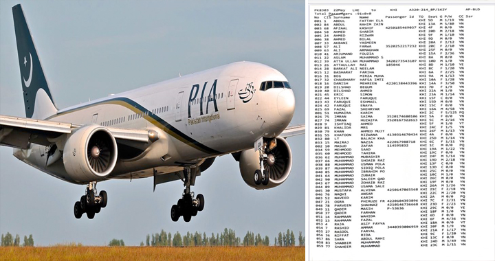 List Of All People On Board Crashed Pakistan International Airlines Flight PK-8303
