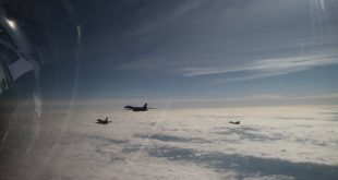 Polish Air Force MiG-29 & F-16 Escorted U.S. Air Force B-1B Bomber Over Poland