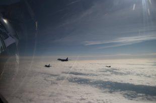 Polish Air Force MiG-29 & F-16 Escorted U.S. Air Force B-1B Bomber Over Poland