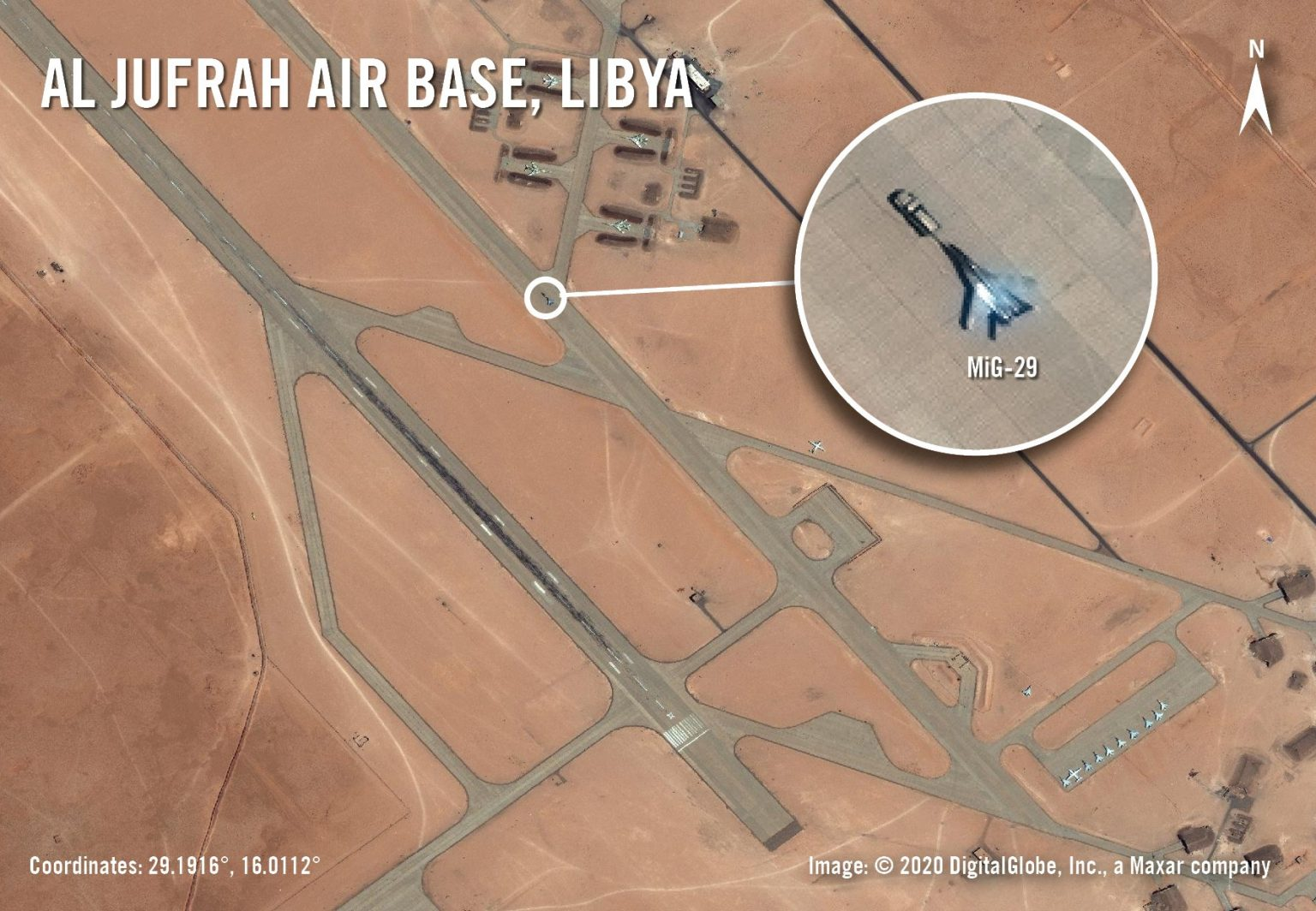 Satellite Imagery Has Spotted Mysterious MiG-29 Fighter Jet At Libyan Air Base