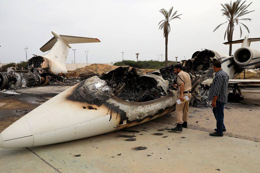 Several Aircraft Including Libyan Air Force Ilyushin Il-78 Damaged In Mortar Attacks At Tripoli-Mitiga International Airport