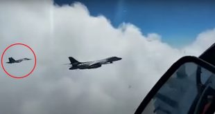 Russia Releases Video Of A Su-27 Flanker Intercepting U.S. B-1B Bomber Flying Over Black Sea