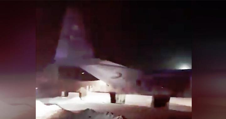 U.S. Air Force C-130 Overshoots Runway And Crashed Into Wall At Camp Taji Airbase