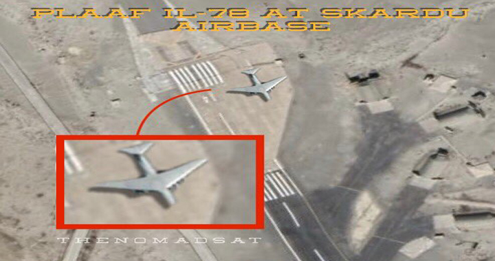 Indian Air Force Claims To Detect Chinese IL-78 Aircraft In Pakistan-Occupied Kashmir