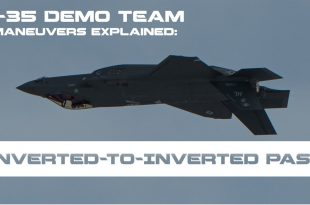 F-35 Demo Pilot Explains How To Perform Inverted-to-Inverted Pass Maneuver
