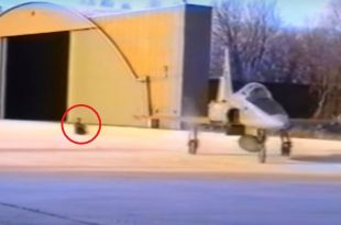 Shocking Video Shows Fighter Jet Towing Instructor Giving Taxi Instructions From A Sledge