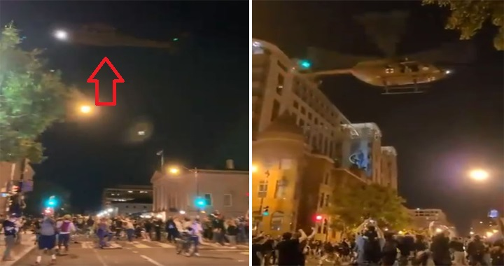 U.S. Military Helicopters Performed Bizarre Low-Flying Show Of force Tactic To Break Up Protest Crowds In Washington DC