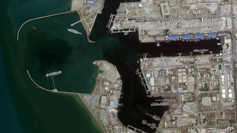 Satellite Imagery Spots Iran Builds Mock-Up Of U.S. Aircraft Carrier For Training