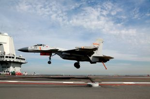 Chinese J-15 Fighter Jets Started Take-off and Landing On New CNS Shandong Aircraft Carrier