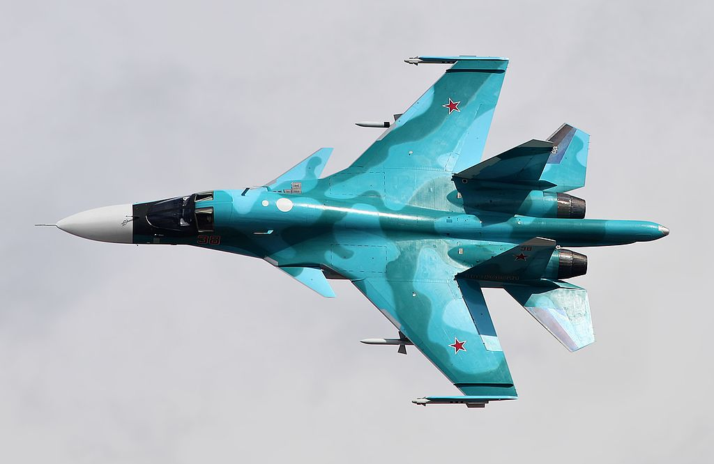 Russian Air Force Orders 20 New Supersonic Sukhoi Su-34 Fighter-Bombers Jets