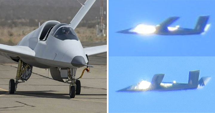 Mysterious U.S. Stealth Plane Model 401 Seen Covered In Mirrors During Test Flights