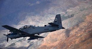 USAF Pilot Ejects Safely After Afghan Air Force A-29B Super Tucano Plane Crash