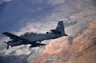 USAF Pilot Ejects Safely After Afghan Air Force A-29B Super Tucano Plane Crash