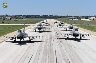 Italian Air Force Performed First-Ever Elephant Walk With Eurofighter Typhoon