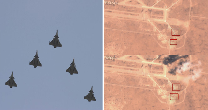 French Rafale Jets Allegedly Attack and Destroyed Turkish Air Defense System In Al-Watiya Airbase