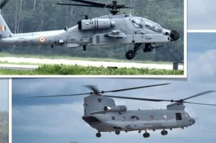 All 22 Apaches and 15 Chinooks helicopters Delivered To India: Boeing