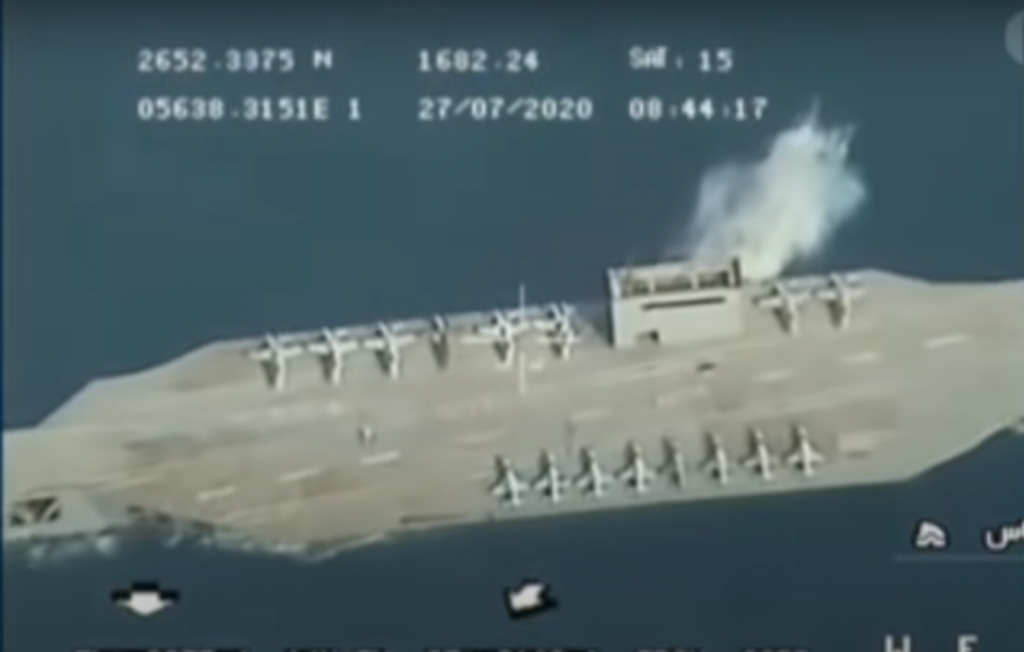 Iran Releases Video Of Firing  Missile At Mock U.S. Navy Aircraft Carrier