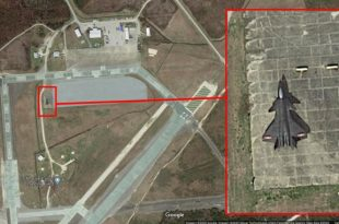 Satellite Image Spots Chinese J-20 Mock-Up At U.S. MCALF Bogue Field