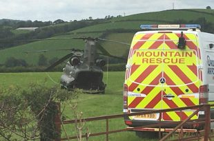 RAF Chinook Makes Force Landing After Reportedly Striking Powerlines