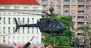 Taiwan Army Bell OH-58D Kiowa Helicopter Crashes at Hsinchu Airbase Killing Both Pilots