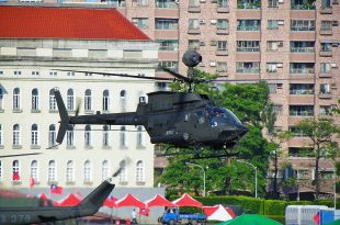 Taiwan Army Bell OH-58D Kiowa Helicopter Crashes at Hsinchu Airbase Killing Both Pilots