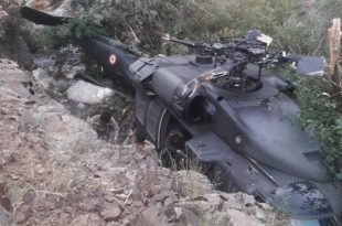 Turkish Armed Force Sikorsky S-70 Black Hawk Helicopter Crash-land in Diyarbakir