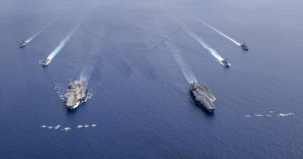 Amid India-China Border Tensions U.S. Launches Large-scale Military Exercises In South China Sea