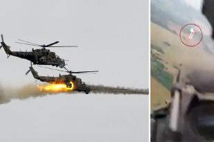 Belarusian MoD Scrambled Mi-24 helicopters To Intercept Balloons Carrying Pro-Opposition Flags