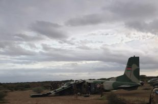 Kenya Air Force Harbin Y-12-II Aircraft Crash-landed At Somalia Airstrip