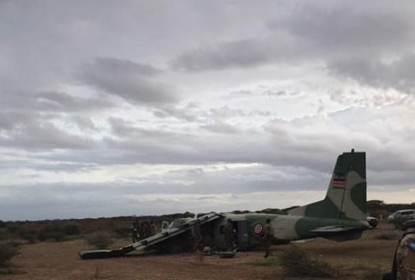 Kenya Air Force Harbin Y-12-II Aircraft Crash-landed At Somalia Airstrip