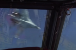 Cockpit Video Shows Russian Su-27 Flanker Dangerously Turning Directly In Front Of USAF B-52 Bomber