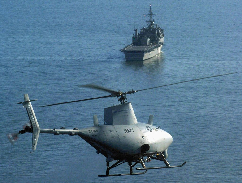 U.S. Navy Unmanned Helicopter Crashes After Suffering A Blade Strike On  Building