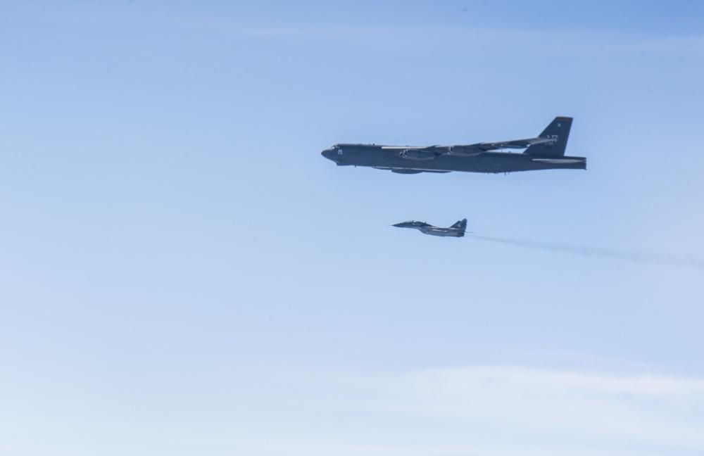 U.S. Air Force B-52H Strategic Bombers Entered Ukrainian Airspace Teasing Russia