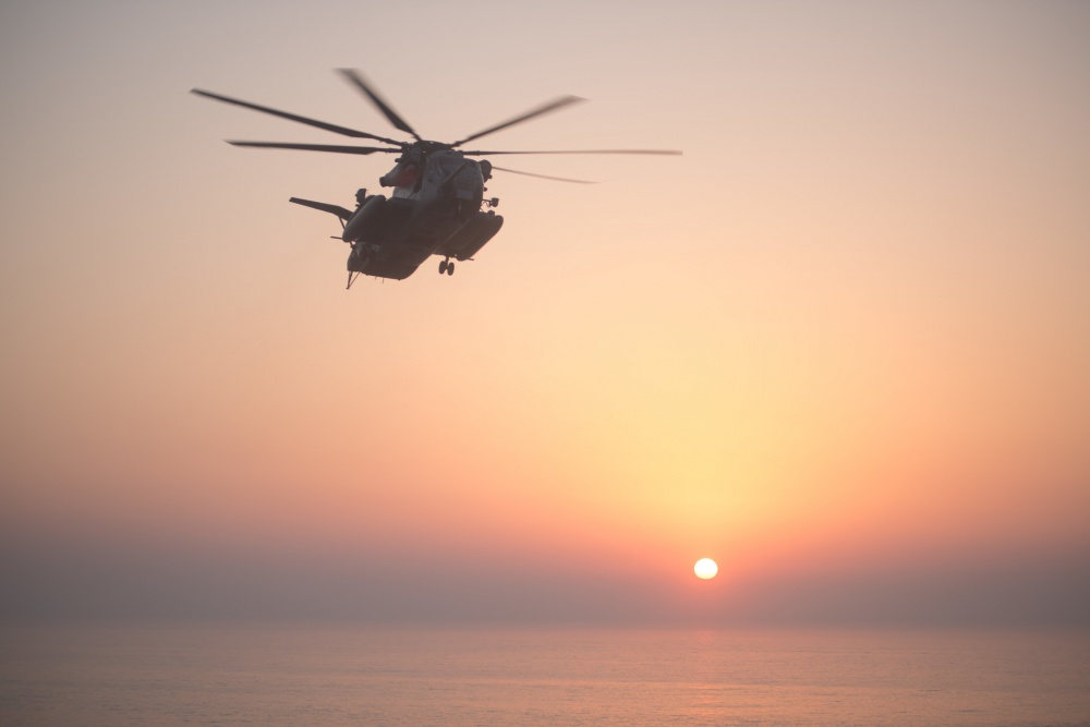 U.S. Marine Corps CH-53E Super Stallion Helicopter Caught Fire & Destroyed During Emergency Landing