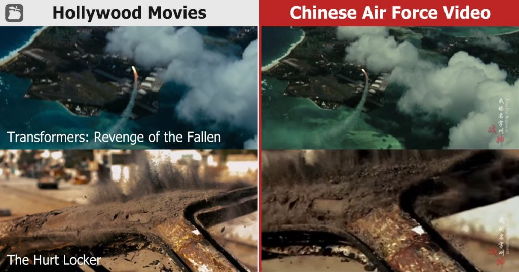 Transformers and The Rock Movie Clips Spotted In China's Air Force Propaganda Video