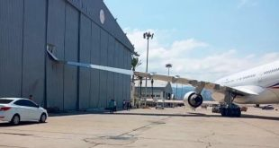 French Air Force Presidential Airbus A330 Aircraft Wing Crashed Into Hangar In Lebanon
