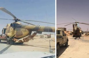 Libya's Government of National Accord Forces Seizes Libyan National Army Mil Mi-8 Helicopter