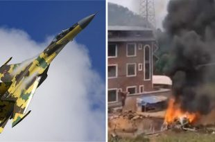 PLAAF Fighter Jet Crashes Near Guilin Qifengling Air Base