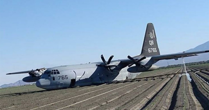Here's U.S. Marine Corps C-130J That Collided With An F-35B Over Southern California