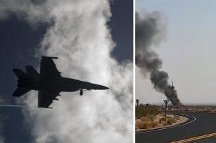 U.S. Navy Armed F/A-18E Super Hornet Crashes Near China Lake