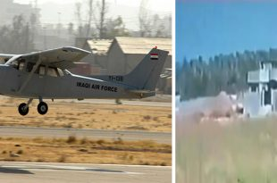 Iraqi Air Force Cessna Caravan 172 Plane Crashes Killing Both Pilots (Video)