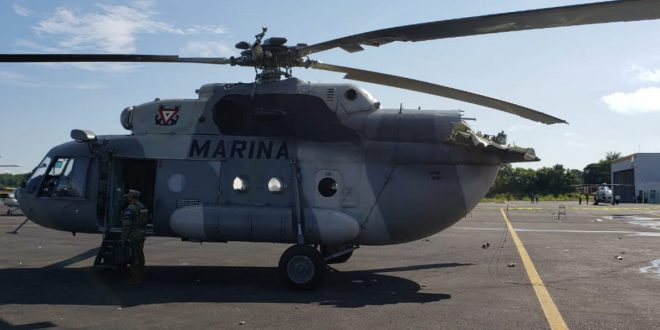 Mexican Navy Mil Mi-17 Helicopter Crashes Into A Control Tower During Landing