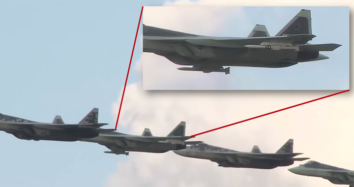 Russia's New K-77 Air to Air Missile Spotted On Su-57 Stealth Fighter Jet