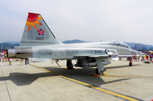 Taiwanese Northrop F-5E Fighter Jet Crashes Into The Sea killing Pilot